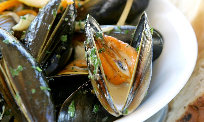 Dildo Dory Grill - Dildo: C$10 for Mussels or Seafood Chowder with a Glass of Wine at Dildo Dory Grill (up to a C$21 value)