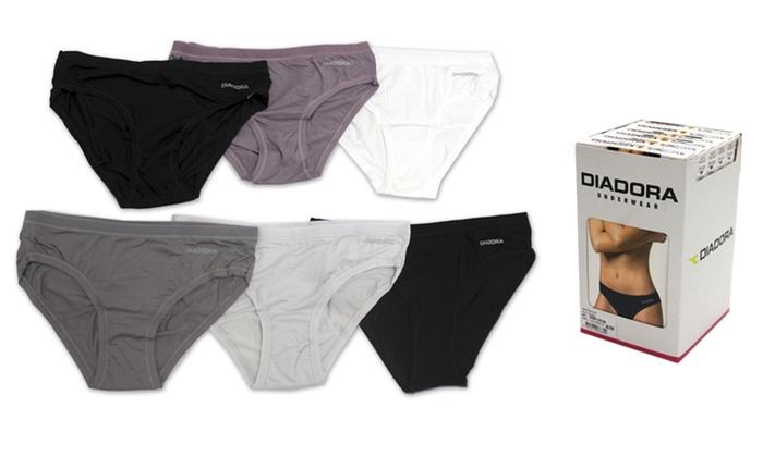 6 slip donna Diadora in cotone disponibili in colori