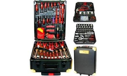Swiss Kraft Juego de herramientas bañadas en cromo vanadio de 256 y 326 piezas LIMITED EDITION