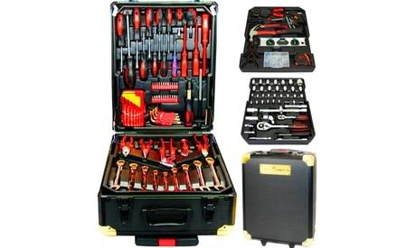 Juego de 256 herramientas profesional bañadas en cromo vanadio Swiss Kraft