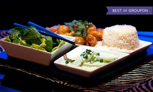 Fusion Bistro: Wine and Bento Boxes for Two or Four at Fusion Bistro (Up to 44% Off)