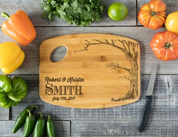 "One Personalized 6x8"", 9x12"", or 11x15"" Cutting Board from CabanyCo (Up to 61% Off) 2a78a796-75bd-490d-984e-eacb02e685b7"