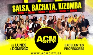 ACM City: 1 o 3 meses de clases de ritmos latinos para 1 o 2 personas a elegir entre 9,90 € en ACM City