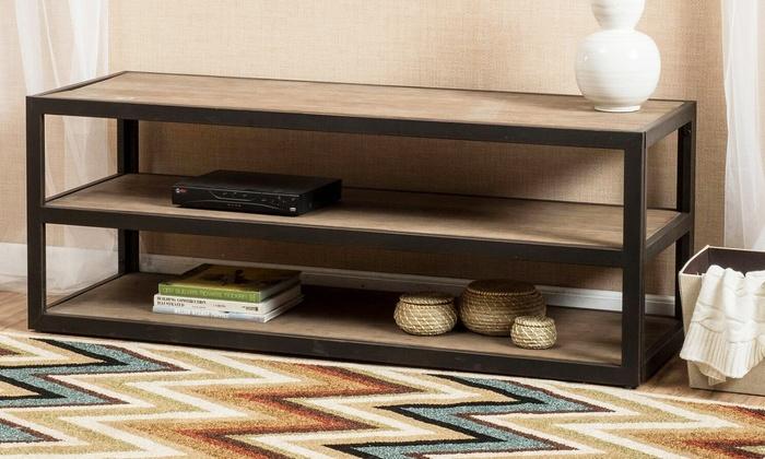 industrial tv stand. Lundin 3-Shelf Industrial TV Stand Tv C