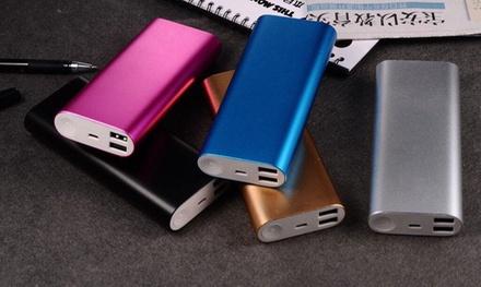 Aluminium-Powerbank 16.000 mAh mit 2 USB-Steckplätzen inkl. Versand (71% sparen*)