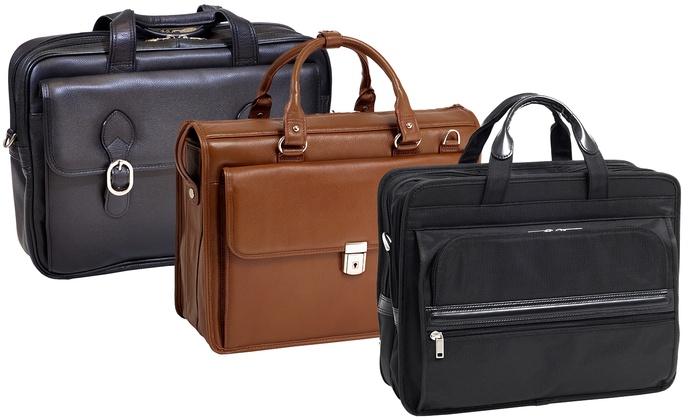 McKlein Handheld Leather or Nylon Laptop Bags