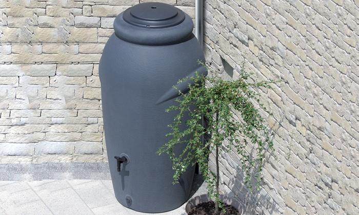 Groupon Goods Global GmbH: Regenwassertonne 210 Liter inkl. Pflanzeinsatz in der Farbe nach Wahl