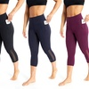 Marika Women's High Rise Tummy Control Pocket Capri Leggings