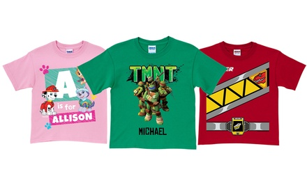 One or Two Custom TV Character Shirts from TV's Toy Box (Up to 37% Off)