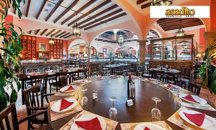 Menú para 2 o 4 personas con aperitivo, surtido de entrantes, principal con guarnición y postre desde 34,95 € en Asadito