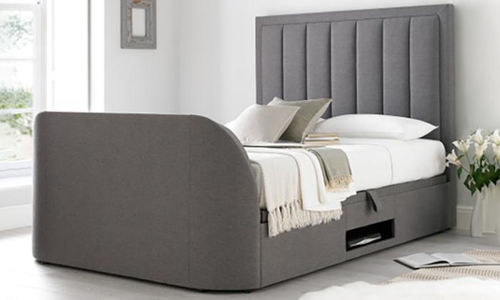 Fantastic Ventura Grey Fabric Ottoman Tv Bed Groupon Goods Creativecarmelina Interior Chair Design Creativecarmelinacom