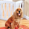 Adjustable Wavy Wooden Pet Gate