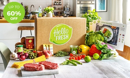 One or Two Recipe Boxes with Three Meals Each for Two or Four from HelloFresh your 1st and/or 2nd box