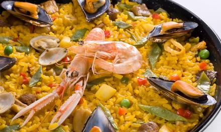 Menu Spagnolo Con 1 Kg Di Paella Di Carne O Di Pesce E Sangria Fino