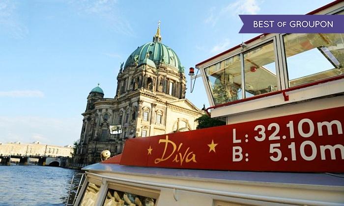 Event- und Charterschifffahrt Berlin - Event- und Charterschifffahrt Berlin: 3 Std. Schiffsrundfahrt für 2 Personen mit Event- und Charterschifffahrt Berlin (45% sparen*)