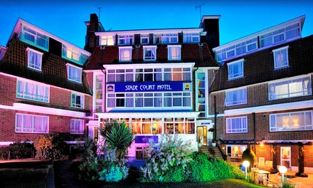 Hythe: 1 or 2 Nights for Two with Breakfast and Option for Afternoon Tea or TwoCourse Dinner at Stade Court Hotel
