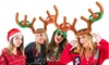 Inflatable Reindeer Antler Ring Hat Toss Game