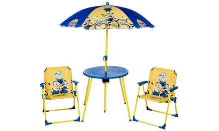 Despicable Me Minions Parasol Table and Chairs