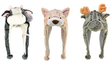 Plush Animal Hat