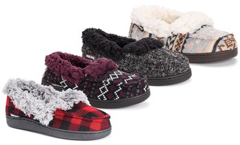 Muk Luks Women's Anais Moccasin Slippers (Up to Size 11-12)