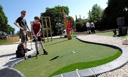 18Hole Adventure Crazy Golf for One Junior, Adult or Family at Highfields Park Adventure Golf