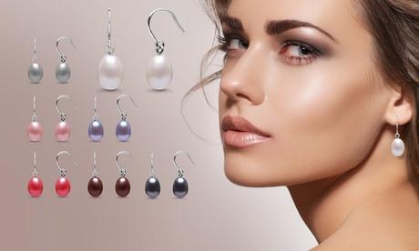 Set de 7 pares de pendientes adornados con perlas para todos los días de la semana