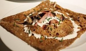 La Grange du Prieuré: Hartige Bretonse pannenkoek met dessert naar keuze voor 2 of 4 personen