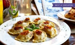 Coś Dobrego: Pierogi z mięsem, ruskie i więcej: 20 sztuk (28,99 zł), 30 sztuk (42,99 zł) z odbiorem i inne w restauracji Coś Dobrego