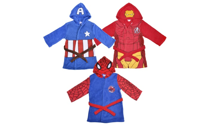 Marvel Hero Hooded Dressing Gown | Groupon