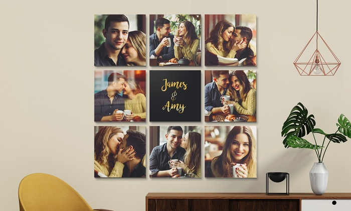 """One, Three, Four, Six, or Nine 10""""x10"""" Custom Canvas Prints from Printerpix (Up to 95% Off)"""