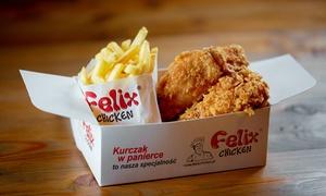 Felix Chicken: Stripsy, skrzydełka, kanapki i więcej: 13,99 zł za groupon wart 20 zł na dania z menu i więcej opcji w Felix Chicken