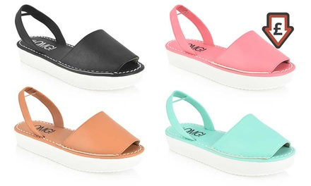 Women's Slingback Flatform Peeptoe Sandals in Choice of Colour