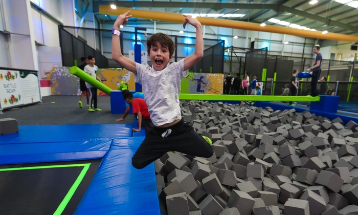 Jump In - Olron House: Fully Catered Trampoline Party for Ten Kids at Jump In (45% Off)