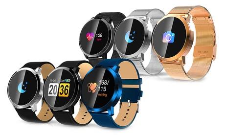 1 ou 2 montres connectées Q8A avec bracelet cuir ou métal