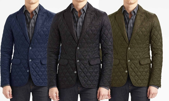 Braveman Men's Quilted Blazer Jacket
