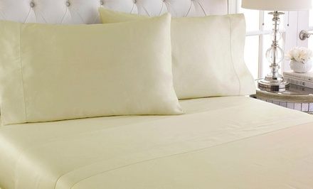 600-Thread Count 100% Cotton Hemstitch Sheet Set