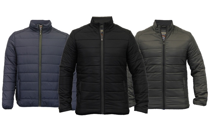 Groupon Goods Global GmbH: Men's Brave Soul Padded Jacket in Choice if Colour