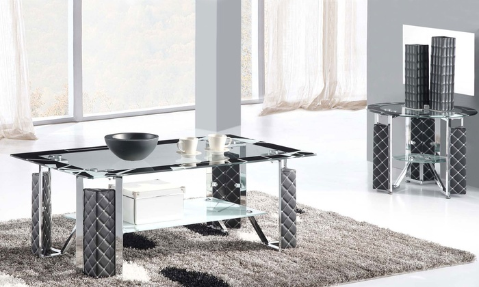International Star General Trading Co. LLC - Merchandising (AE): High-End 2+1 Glass Coffee Table for AED 649 (35% Off)
