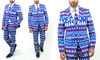 Braveman Ugly Christmas Suits with Matching Tie (Size 44Sx38W)
