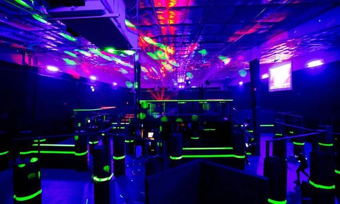 laser tag ultra blast laser combat center groupon. Black Bedroom Furniture Sets. Home Design Ideas