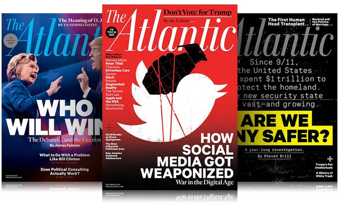 atlantic monthly Almost all main-stream publications could be claimed to have left of center tilt but 'biased' would be an inappropriate word for the entire magazine and others that share the same space it could be applied to some of their articles that deal exp.