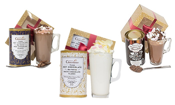 Groupon Goods Global GmbH: Hot Chocolate Gift Set with Marshmallows and a Glass from €9.99