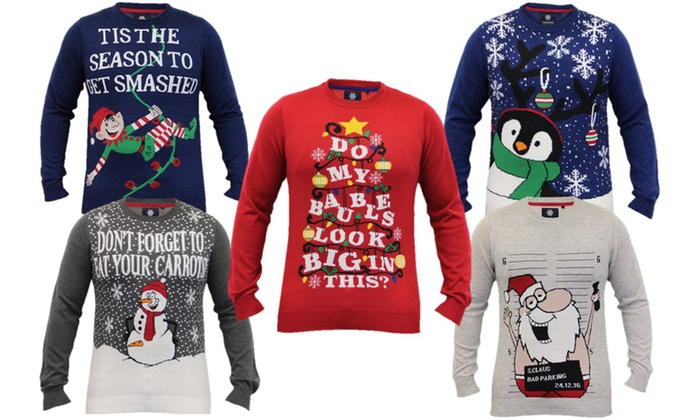 marketable big discount best prices Men's Novelty Christmas Jumpers | Groupon