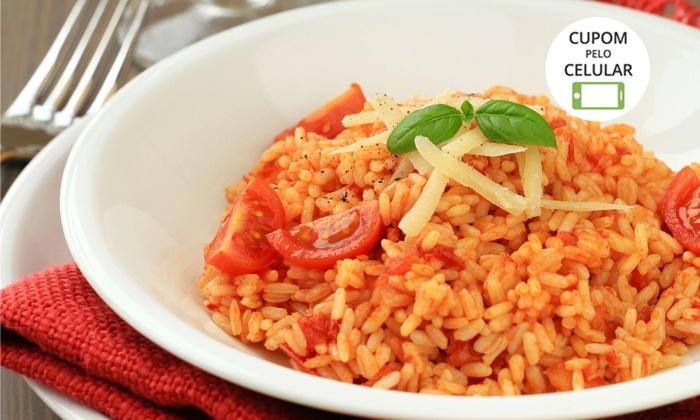 Risoto Mix – Shopping JK - Brasília: Risoto Mix – Shopping JK: almoço ou jantar com filé mignon à parmegiana para 1 ou 2 pessoas