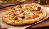 Menu pizza con antipasto e birra