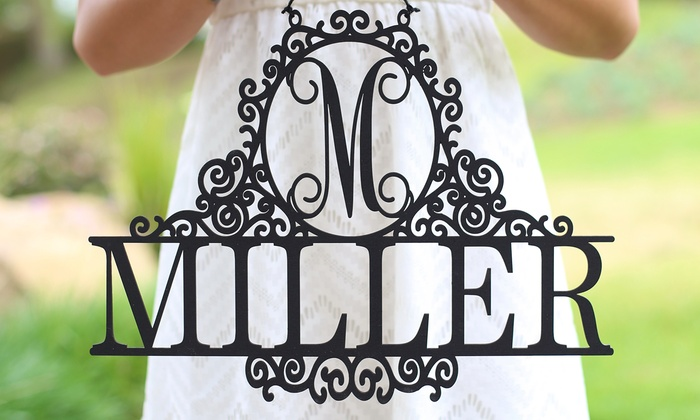 Morgann Hill Designs: One or Two Monogrammed Last-Name Wall Signs from Morgann Hill Designs (Up to 60% Off)