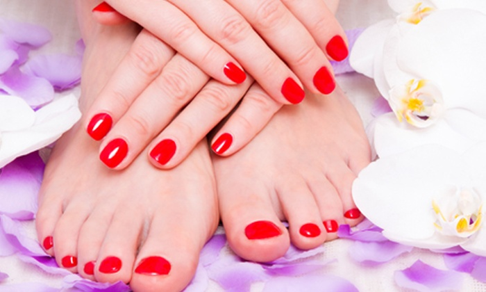 Bellisima Salon & Spa - Macomb: $38.50 for a Shellac Manicure with an Express Pedicure at Bellisima Salon & Spa ($70 Value)