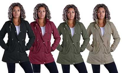 620a8fccf4e Shop Groupon Lee Hanton Women s Sherpa-Lined Military-Style Parka Jacket