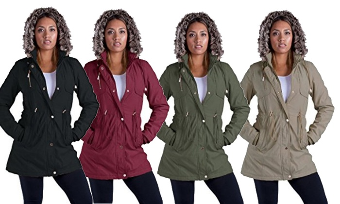 Womens Military Style Parka