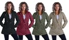 Lee Hanton Women's Sherpa-Lined Military-Style Parka Jacket